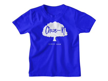Choze-N Angels Kids Blue T-Shirt White Tree