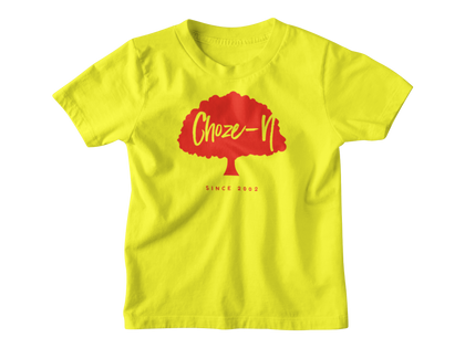 Choze-N Angels Kids Grey T-Shirt Red Tree