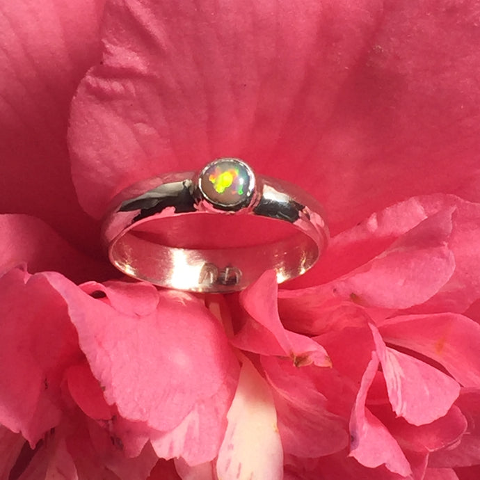 Crystal Opal Ring (size 7 or N1/2)