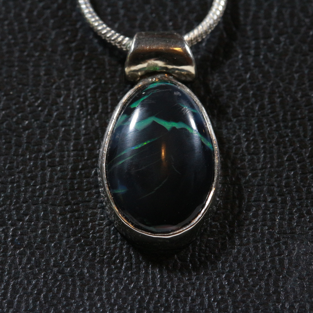 Emily's Black Opal Mountain Picture Stone