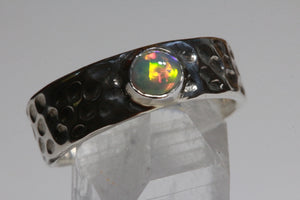 Crystal Opal Ring (size 7 or O)