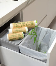 Load image into Gallery viewer, Biodegradable & Compostable Bin Liners 27L