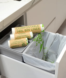 Biodegradable & Compostable Bin Liners 27L