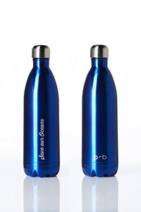 Stainless Steel Insulated Bottle + Carry Cover 1000ml - Blue Blaze Print