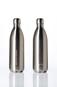 Stainless Steel Insulated Bottle + Carry Cover 1000ml - Bubble Print