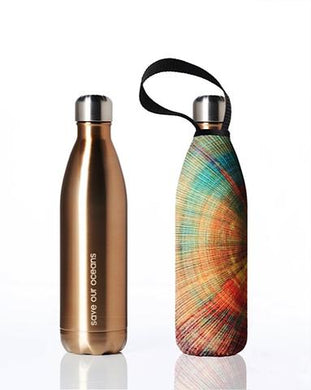 Stainless Steel Insulated Bottle + Carry Cover 750ml - Spiral Print