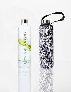 GLASS IS GREENER + CARRY COVER - 750 ML - Feather Print