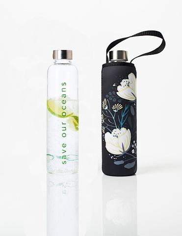 GLASS IS GREENER + CARRY COVER - 750 ML - ORIENT PRINT
