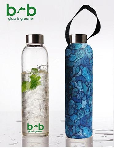 GLASS IS GREENER + CARRY COVER - 750 ML - Wind Print