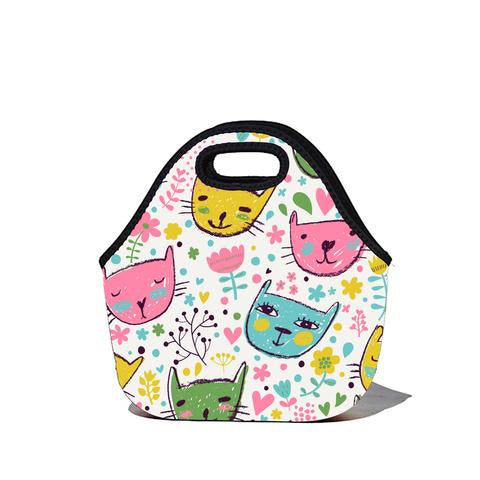 Lunchtime Bag - Cats Print