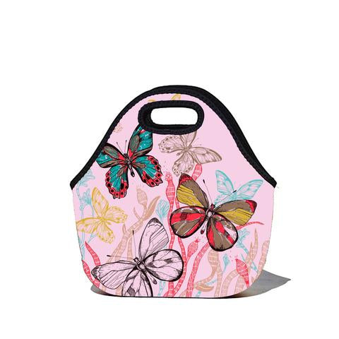 Lunchtime Bag - Pink Butterfly Print