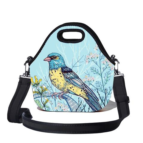 Lunchtime Bag with Carry Strap - Kook Print