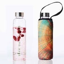 "GLASS IS GREENER + CARRY COVER - 570 ML - ""Spiral Print"""