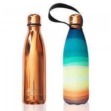 Stainless Steel Insulated Bottle + Carry Cover 500ml - Sunrise Print