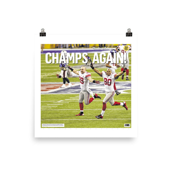 Giants 2011-12 Super Bowl champs poster keepsake