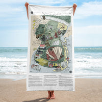 Color Map of 'New Jerseros' Beach Towel