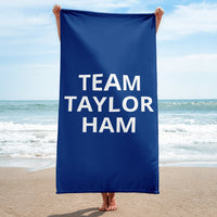 Team Taylor Ham Beach Towel