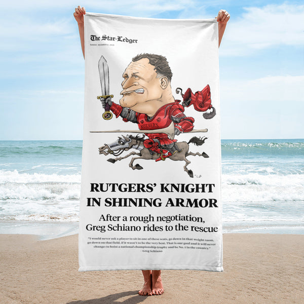 Knight in Shining Armor Beach Towel