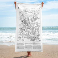 Map of 'New Jerseros' Beach Towel