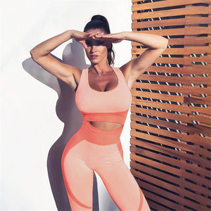 PEACHY BUM SEAMLESS YOGA SET