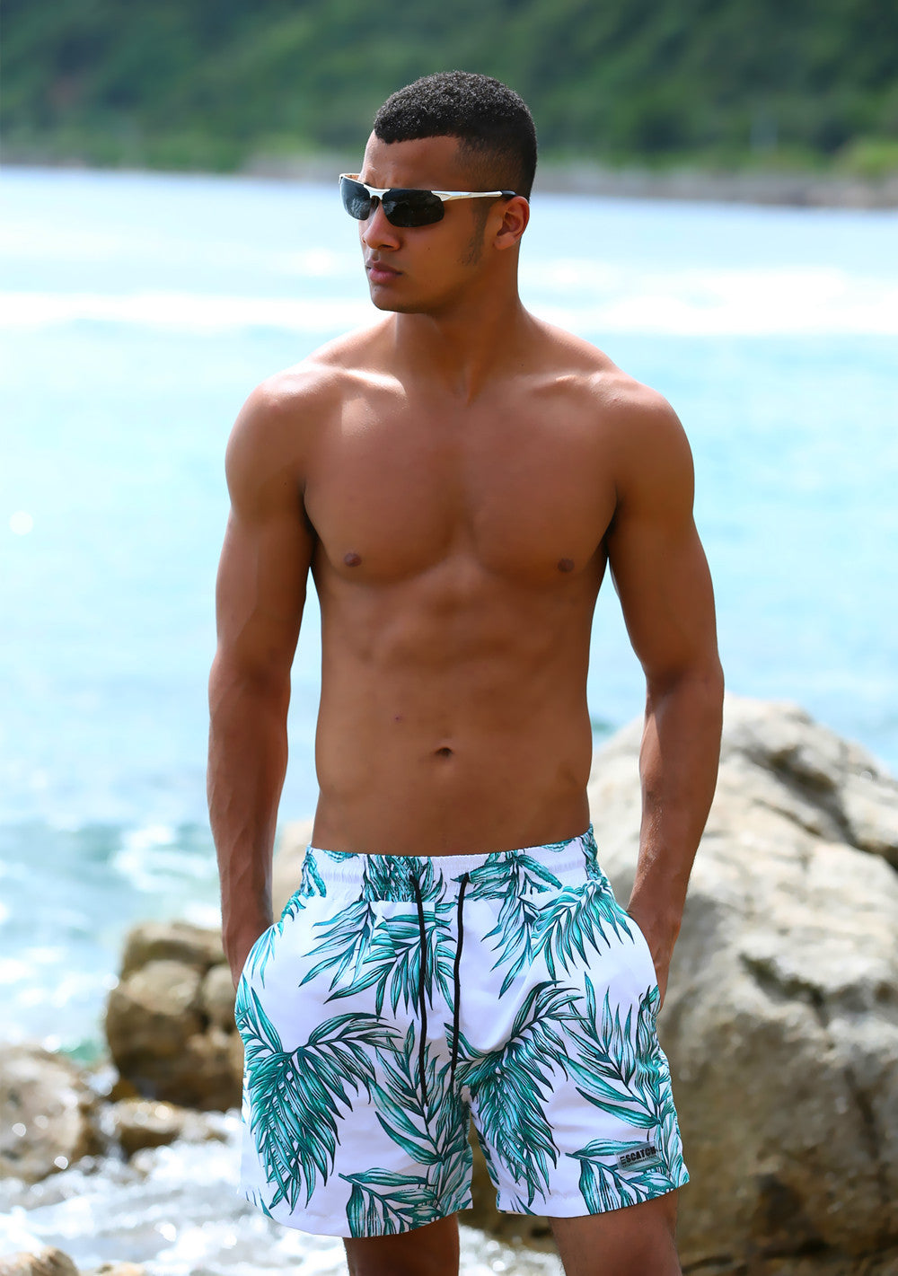 TROPICAL BLISS BOARD SHORTS