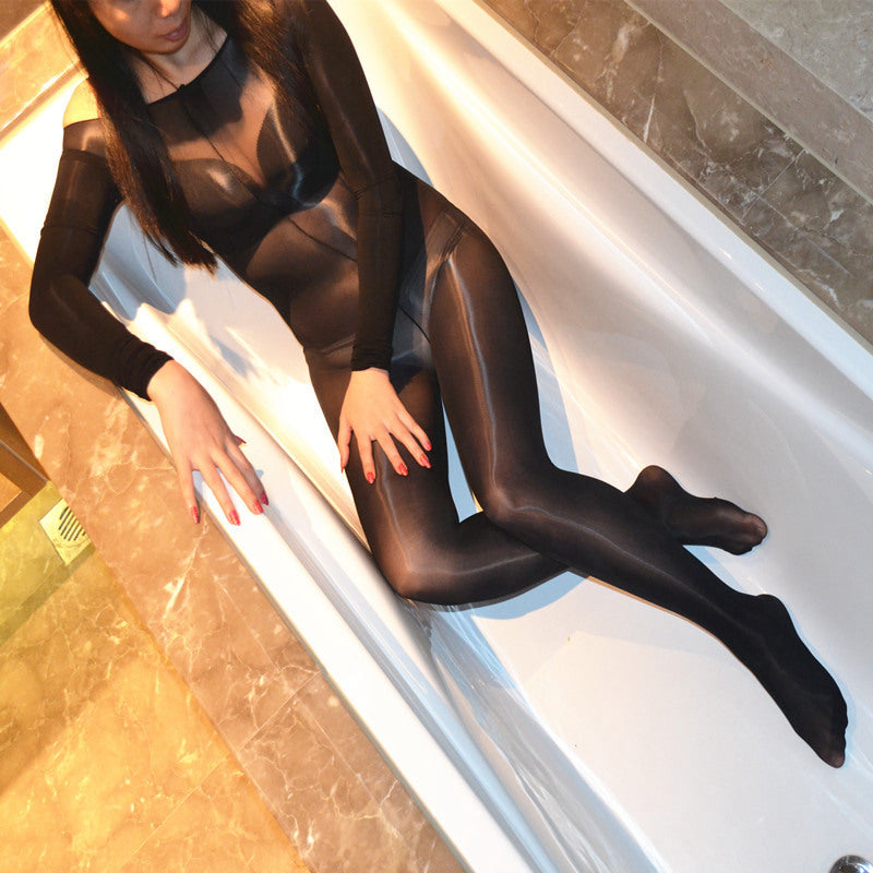 Crotchless Sheer Bodystocking