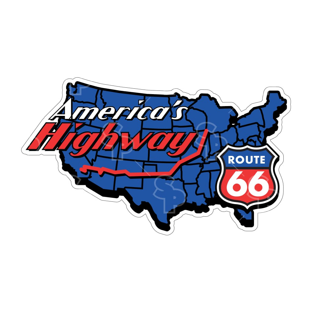 1437 - Route 66 Americas Highway Map