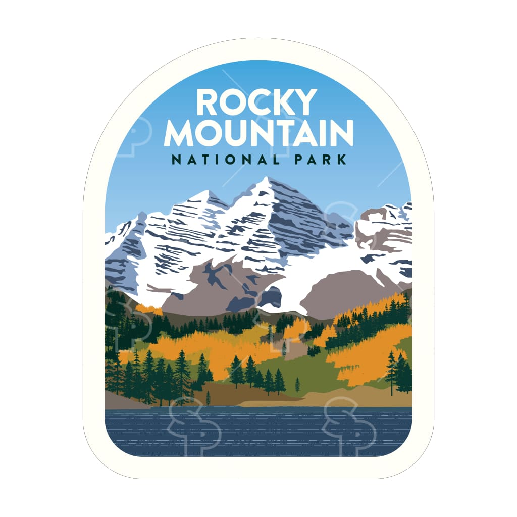 1473 - Clean Np Badge Rocky Mountain