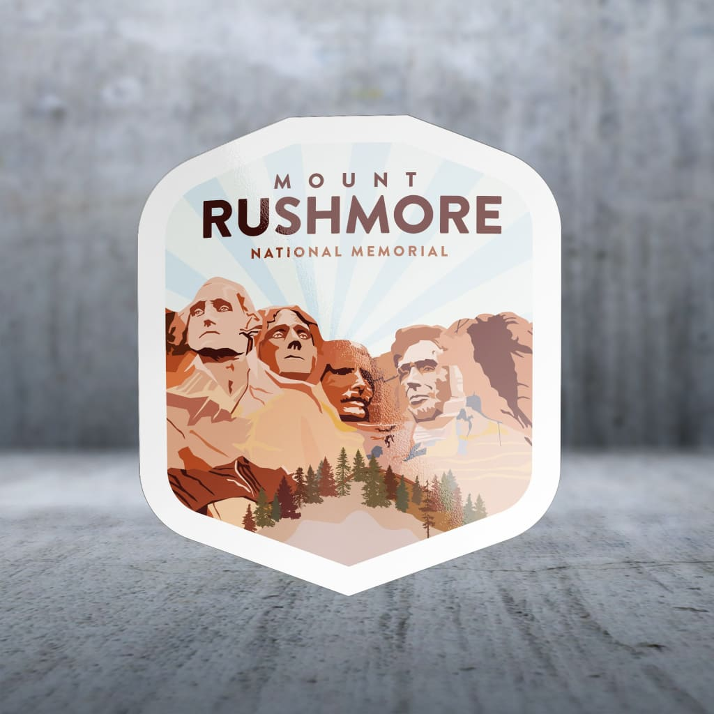 1637 - Clean Np Badge Mount Rushmore