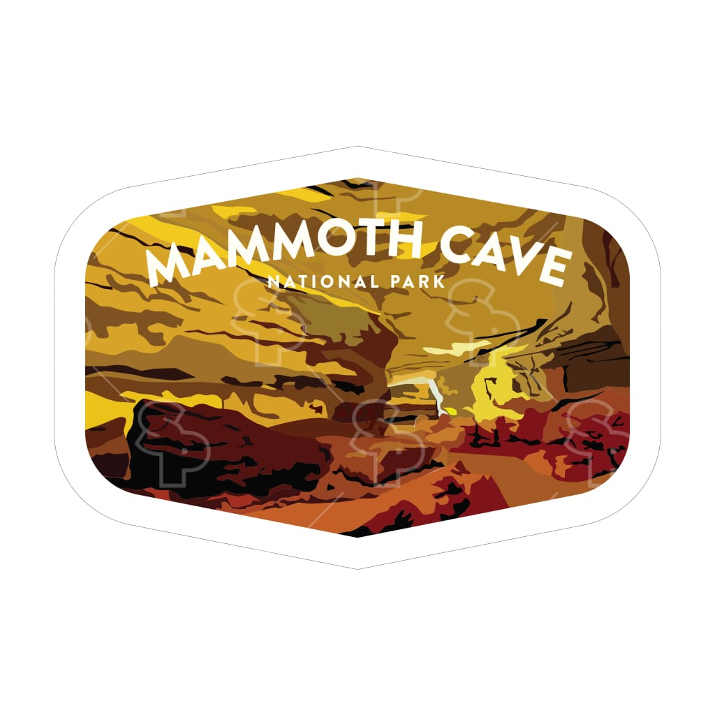 1642 - Clean Np Badge Mammoth Cave
