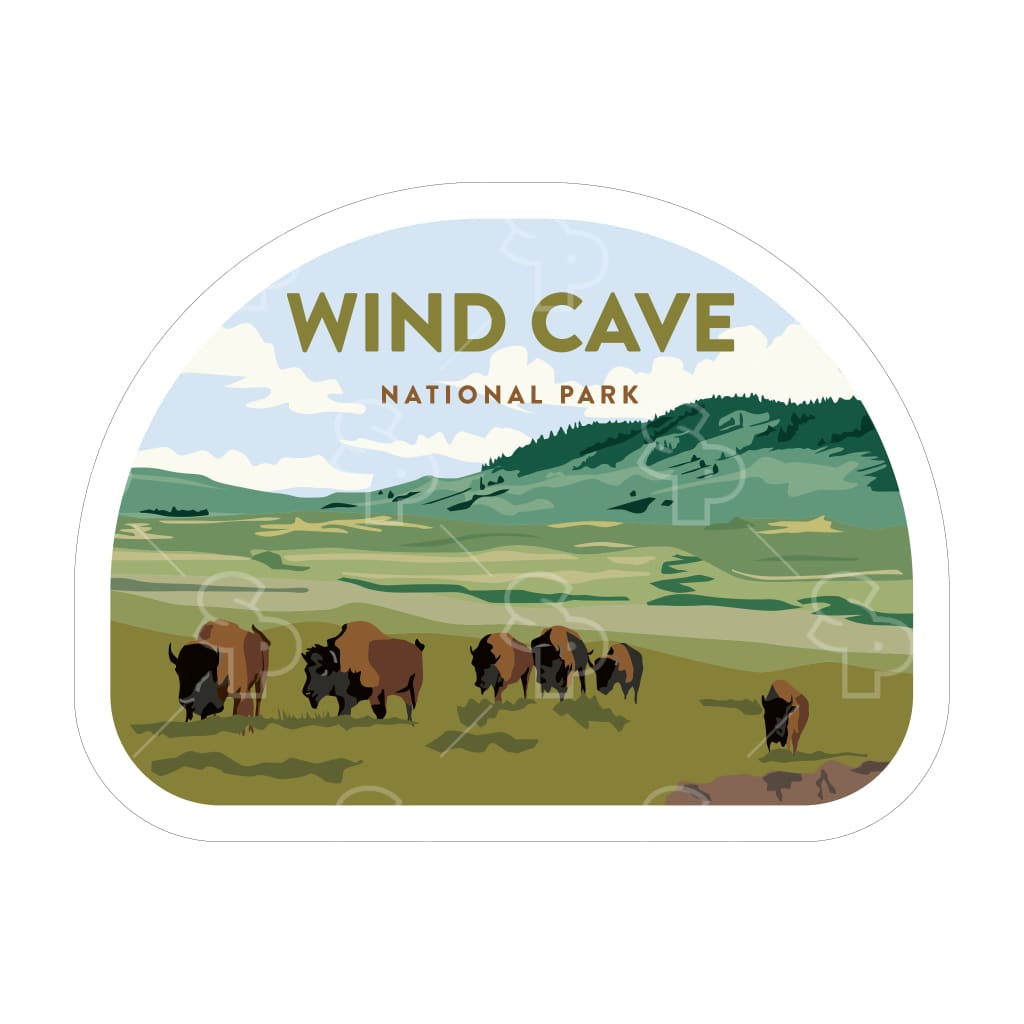1644 - Clean Np Badge Wind Cave