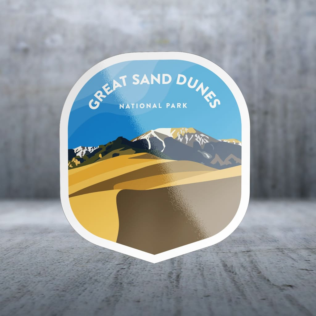 1647 - Clean Np Badge Great Sand Dunes