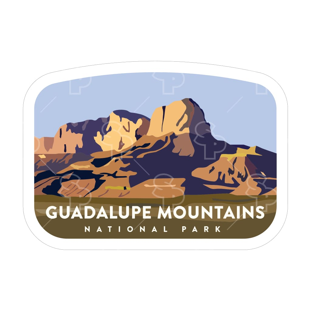 1658 - Clean Np Badge Guadalupe Mountains
