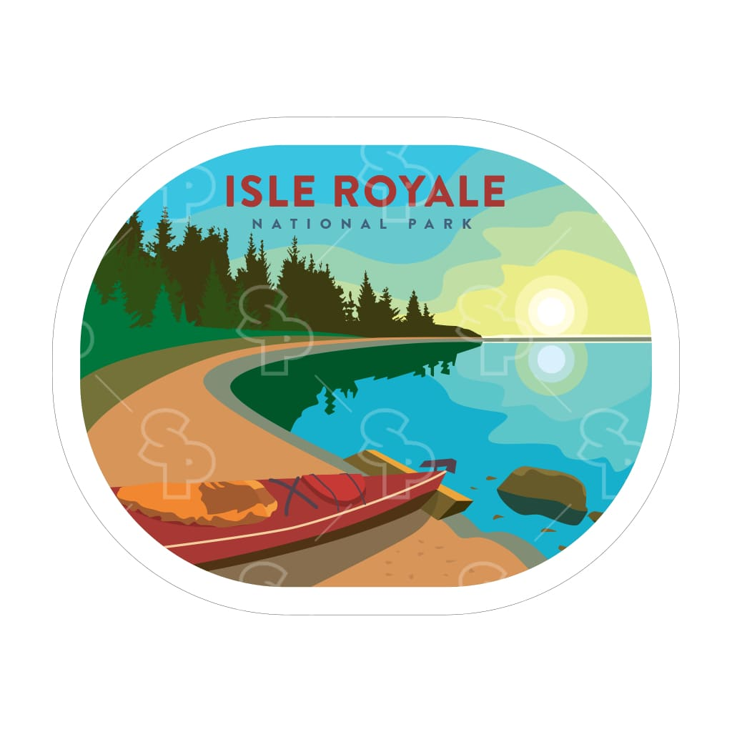 1663 - Clean Np Badge Isle Royale