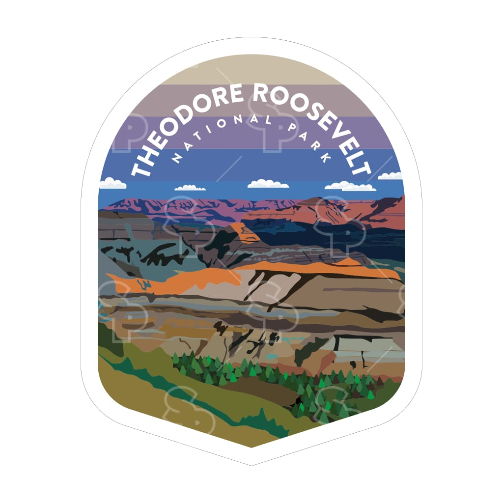 1666 - Clean Np Badge Theodore Roosevelt
