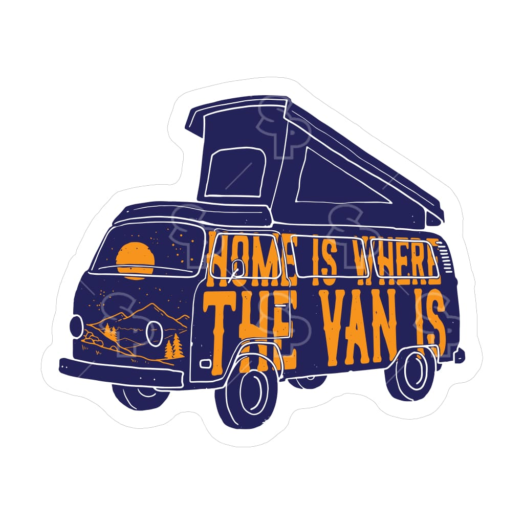 1874 - Camping Vibes Home Is The Van