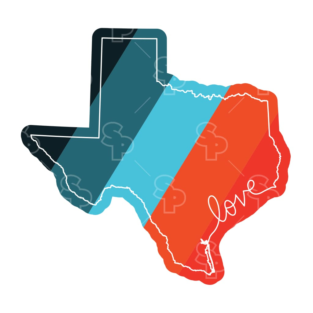 2446 - State Love Colors Texas
