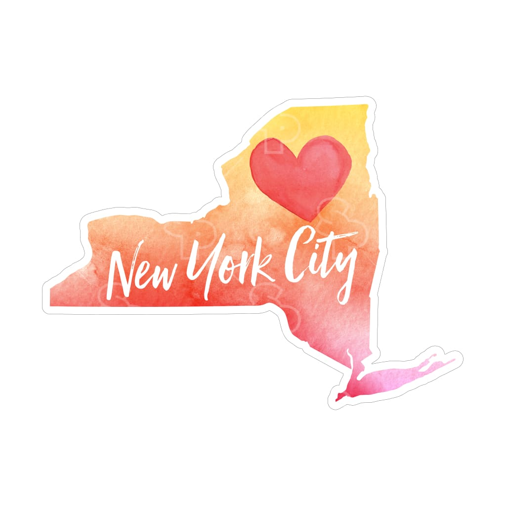 2696 - Watercolor Heart New York
