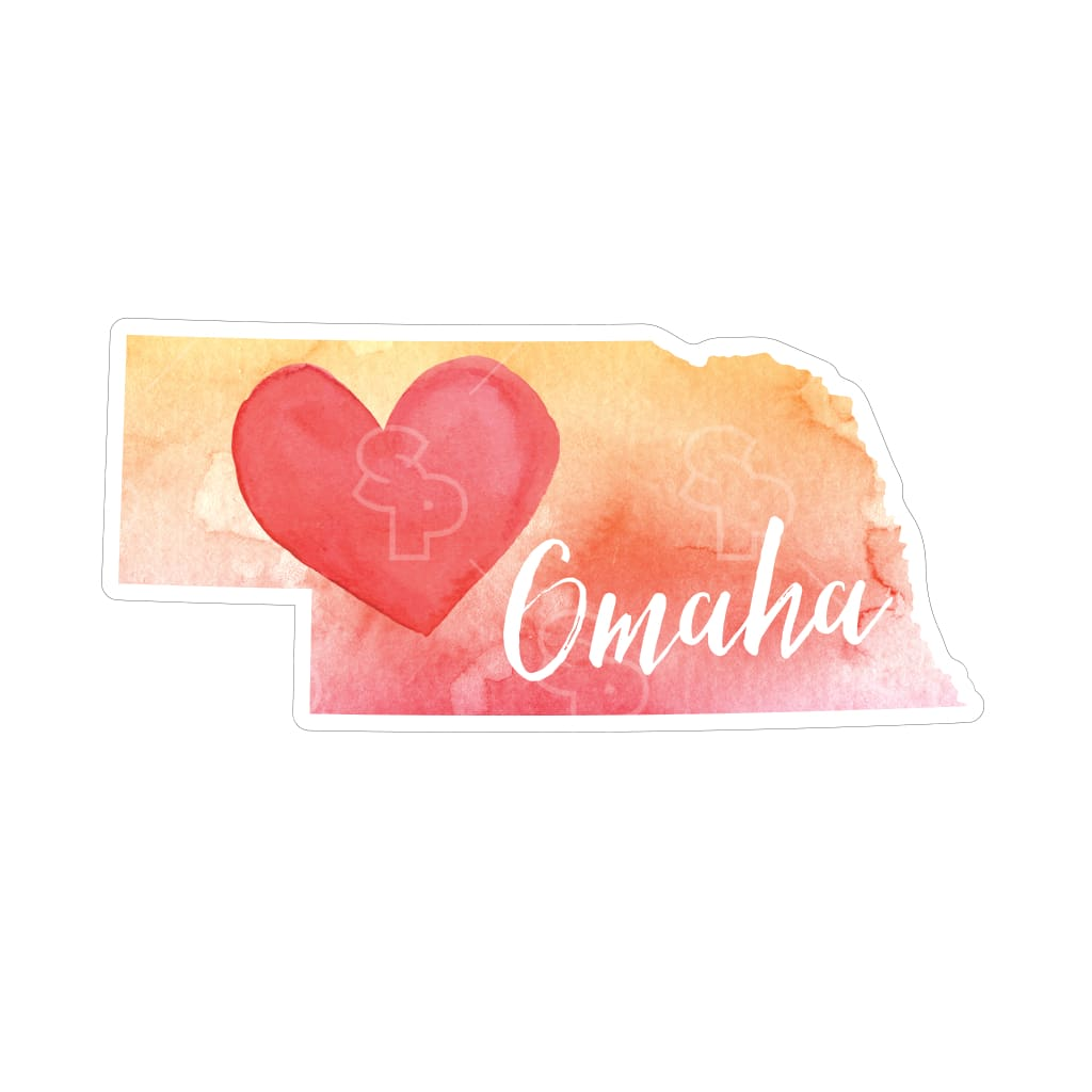 2720 - Watercolor Heart Nebraska