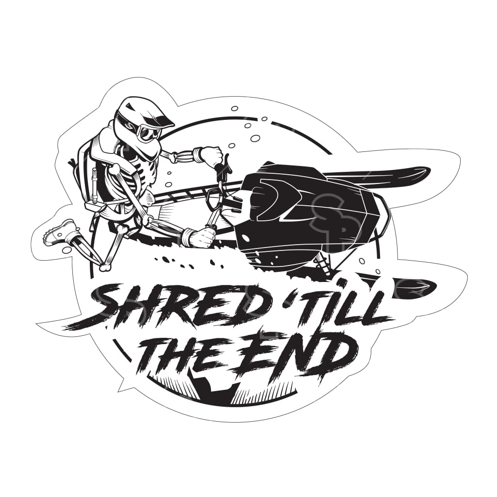 433 - Shred Till The End Snowmobile