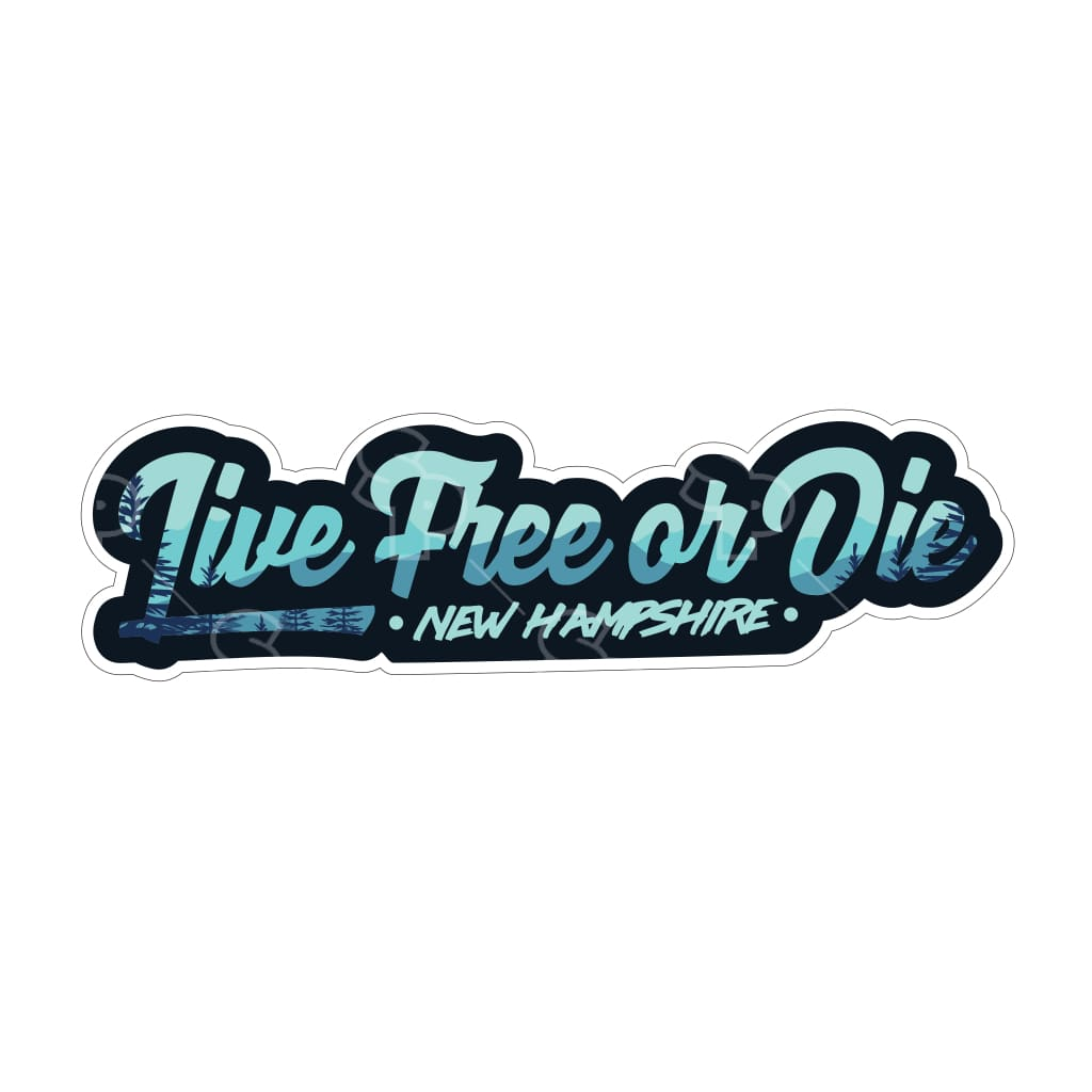 514 - New Hampshire Live Freee Or Die Text