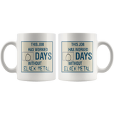Days Since Black Metal Coffee Cup