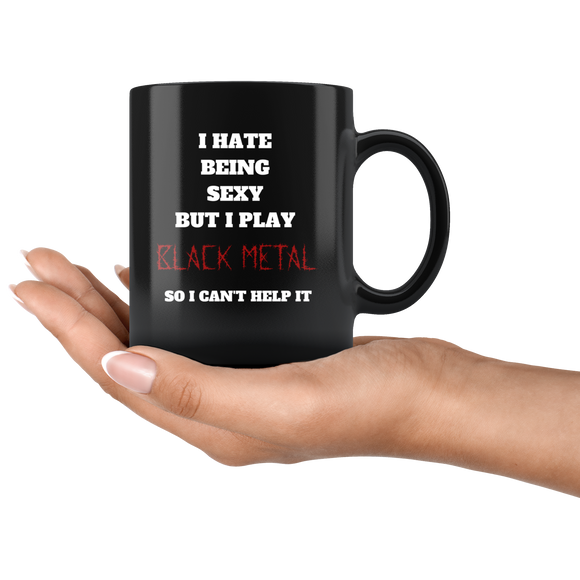 I Play Black Metal Coffee Cup