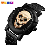 Skull Quartz  Stainless Steel Men's Watch