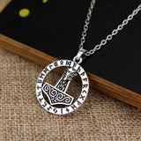Silver Plated Mjolnir Thors Hammer Necklace