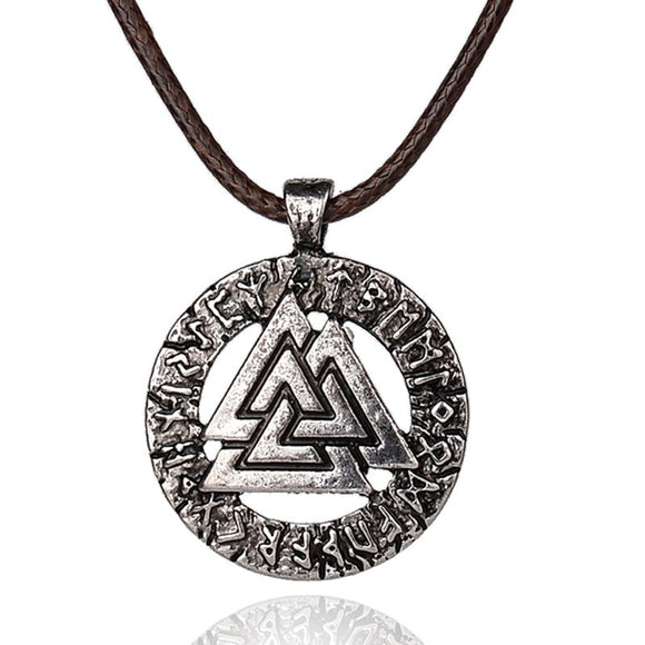 Viking Warrior Valknut Pagan Amulet
