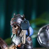 Vikings Skull Statue Key Holder