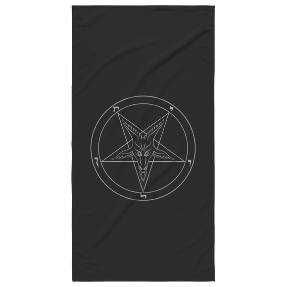 Sigil of Baphomet Black Beach Towel