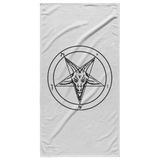 Sigil of Baphomet White Beach Towel