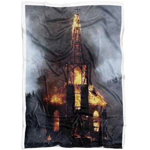 Church Burning Fleece Blanket